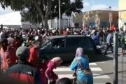 شاحنة إسبانية تدهس مغربيين قرب معبر بني أنصار