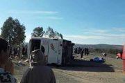 إصابات بليغة في حادث انقلاب حافلة متوجهة لسوق الأربعاء تيسة