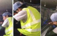 بالفيديو.. عامل أمتعة بالمطار يسرق حقائب الركاب