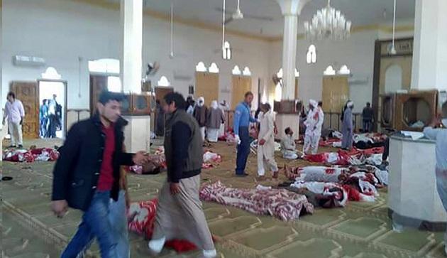التلفزيون المصري: عدد ضحايا تفجير مسجد العريش بلغ 235 والحصيلة في ارتفاع