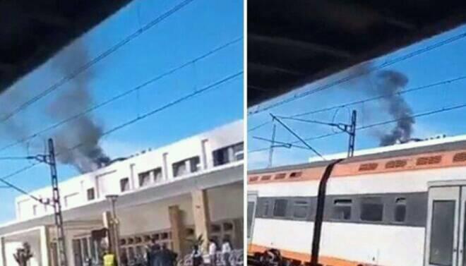 دخان بمحطة القطار سلا يرعب المسافرين.. ومطالب بصيانة أفضل