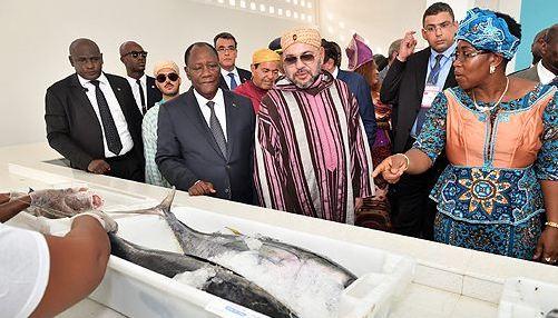 الملك والرئيس الإيفواري يدشنان محطة
