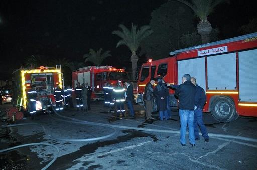 حريق مهول بمطعم بمراكش يستنفر السلطات المحلية