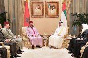 الملك محمد السادس يجري مباحثات مع الشيخ محمد بن زايد آل نهيان