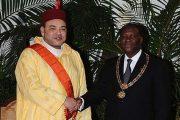 الملك محمد السادس يجري مباحثات على انفراد مع الرئيس الحسن واتارا