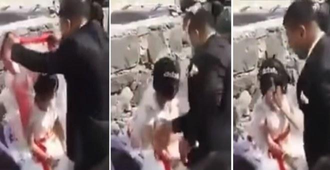 بالفيديو.. عريس يصفع عروسه وهكذا كان رد فعل الحضور !!