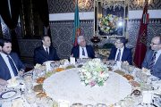 الملك محمد السادس يقيم مأدبة عشاء على شرف الوزير الأول البرتغالي