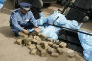 اعتقال إسباني حاول تهريب 105 كيلوغرامات من الشيرا بباب سبتة