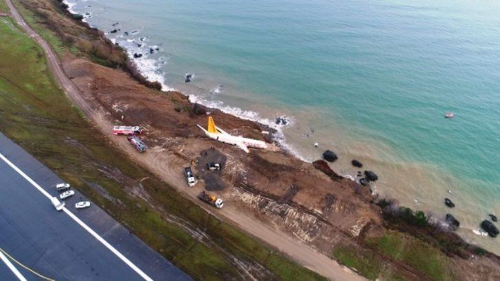 بالفيديو.. انزلاق طائرة ركاب في تركيا باتجاه البحر الأسود