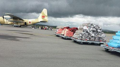 بتعليمات ملكية.. وصول المساعدة الإنسانية العاجلة المرسلة إلى مدغشقر