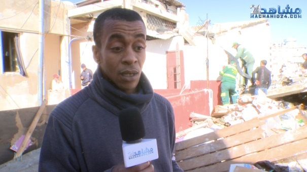 بالفيديو.. شاهد عيان يروي تفاصيل فاجعة انهيار منزل بالبيضاء