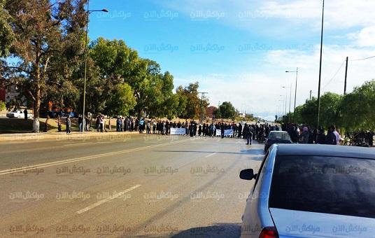 احتجاجات من أجل الوظيفة تقطع
