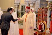 الملك يستقبل عددا من السفراء الأجانب الذين قدموا له أوراق اعتمادهم