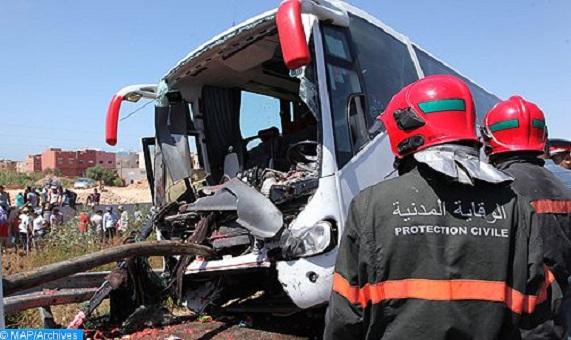 آسفي.. انقلاب حافلة يخلف إصابة 30 شخصا