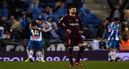 برشلونة يتلقى الهزيمة الأولى في الموسم