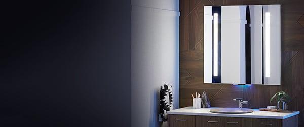 مرآة ذكية تستجيب للأوامر الصوتية وتتحكم فى جميع أداوت حمامك