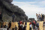 بالفيديو.. حريق مهول يندلع داخل ثكنة عسكرية بالعيون