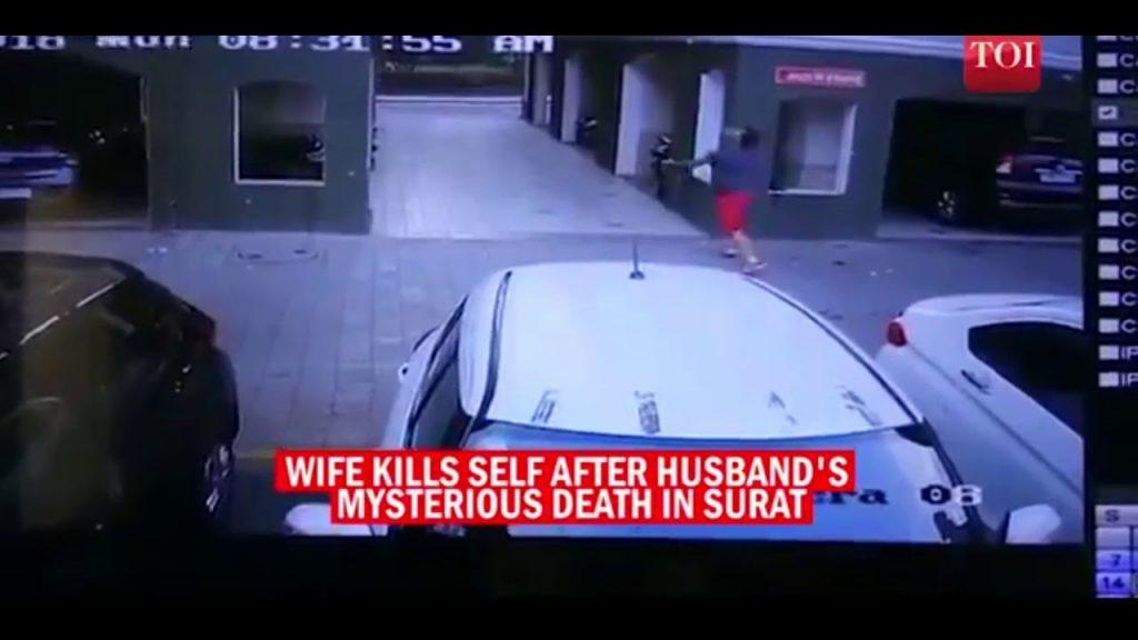 بالفيديو.. كاميرات المراقبة ترصد انتحار امرأة بشكل مروع !!