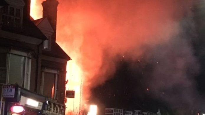 انفجار وسط انجلترا يخلف مصابين ومبان متضررة