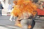 هذه حقيقة إضرام شخص النار في جسده بالدار البيضاء