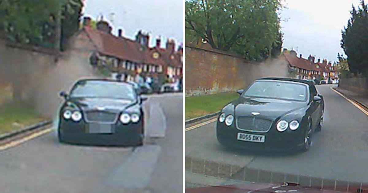 بالفيديو.. لحظة تصادم مروعة بين سيارتين فاخرتين !