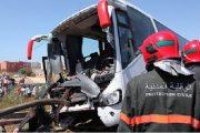 54 جريحا في حادث انقلاب حافلة ضواحي بني ملال