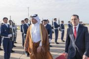 رئيس وزراء قطر يغادر المملكة