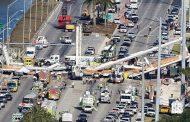 بالفيديو.. قتلى وجرحى في انهيار جسر بولاية فلوريدا