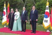 زيارة العثماني وزوجته لكوريا الجنوبية تلهب مواقع التواصل الاجتماعي
