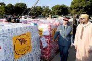الملك يشرف شخصيا على عملية إرسال مساعدة إنسانية لفلسطين