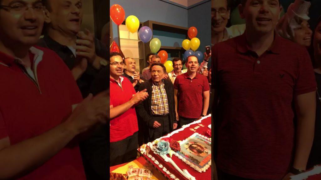 بالفيديو.. عادل إمام يحتفل بعيد ميلاده الـ78 !