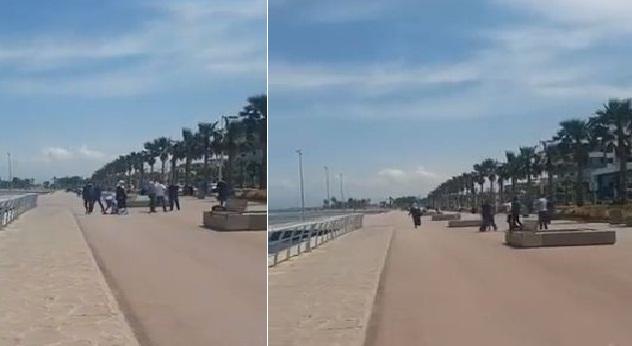 الناظور.. رجل يعتدي على زوجته بوحشية في الشارع