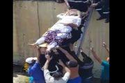 بالفيديو.. انقاذ ضحايا حادثة سير بطرق بدائية يشعل مواقع التواصل الاجتماعي