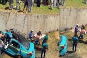طنجة.. سقوط طاكسي تحت قنطرة بعد اصطدام بين 3 سيارات