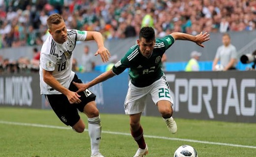 مفاجأة...المكسيك تهزم المانيا بطلة العالم