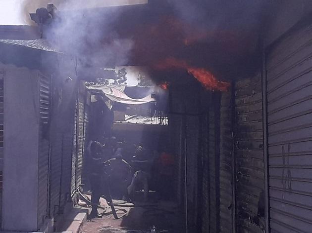 خسارات جسيمة في حريق سوق ببني ملال