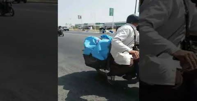"""بالفيديو.. النيران تلتهم """"تريبورتور"""" بطريق أوريكا ونقل سائقه الى مستعجلات مراكش"""