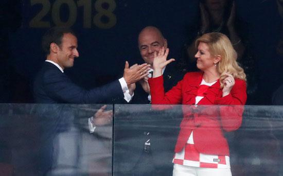 رئيسة كرواتيا تهنئ ماكرون بالفوز بمونديال 2018 وتعتبر منتخبها صنع التاريخ