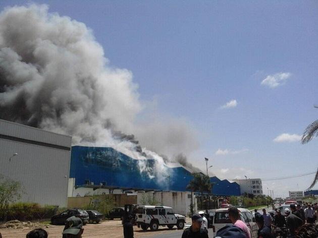 حريق يستنفر شركة سنطرال دانون بالمحمدية