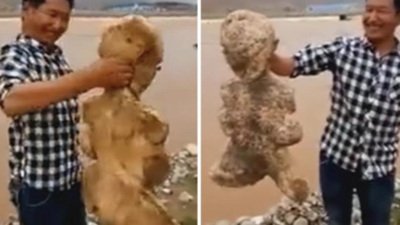بالفيديو... العثور كائن بحري غريب شبيه بـ