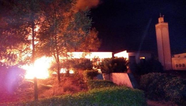 اندلاع حريق مهول بالحي الجامعي السويسي1 بالرباط يخلف رعبا بين الطلبة