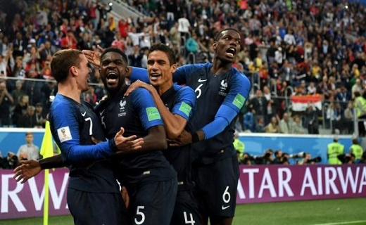 أومتيتي يؤهل فرنسا إلى نهائي مونديال روسيا