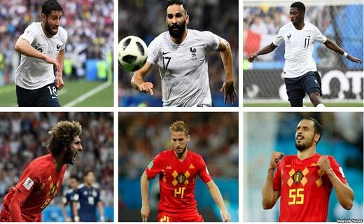 حضور لافت لاعبين من جدور عربية في لقاء فرنسا وبلجيكا