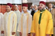 الملك يؤدي صلاة عيد الأضحى بمسجد أهل فاس ويتقبل التهاني