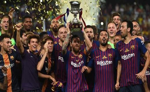 السوبر الإسباني...البارصا يتوج بالكأس 13 في تاريخه