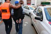 أمن مراكش يوقف صاحب الكتابات المسيئة لرموز الدولة بحائط مركب رياضي