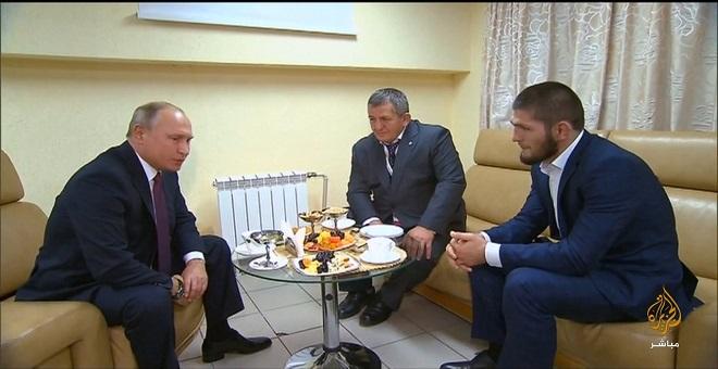 الرئيس الروسي يستقبل البطل المسلم حبيب نور محمدوف
