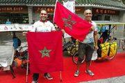 مغربيان يصلان إلى الصين على متن دراجة تعمل بالطاقة الشمسية