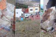 سقوط صخرة جبلية يهدم منزلا بشفشاون