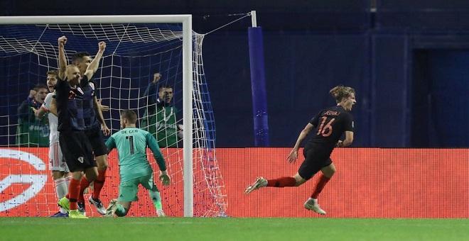 كرواتيا تنتقم من إسبانيا وتنعش آمالها في التأهل